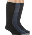 Calvin Klein Cotton Rich Casual Rib Socks - 3 Pack A9495